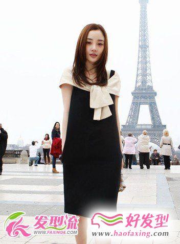 李小璐巴黎时装周发型