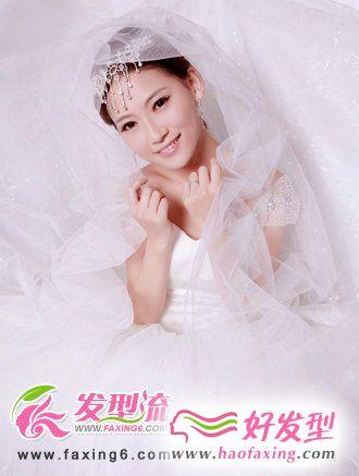 俏丽新娘发型 公主盘发唯美迷人