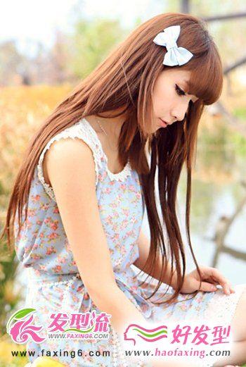 优雅长直发发型