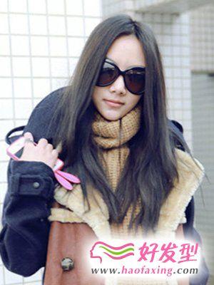 韩式直发发型  清纯美女