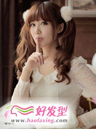 韩式发型扎法  时尚中长发发型扎法