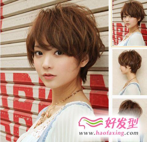 有着十足完美修颜效果的女生短发发型