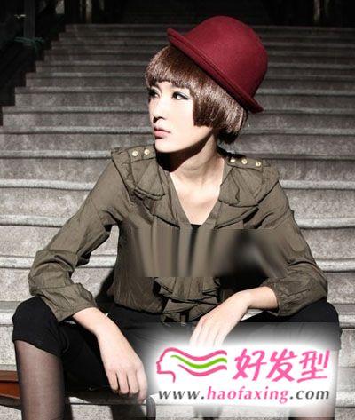 时尚百变波波头 搭配帽子更显华丽多变