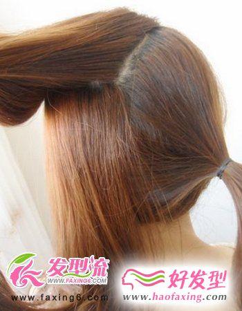 韩式发型diy 第三步