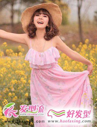 田园风女生中长发发型  诠释女性魅力