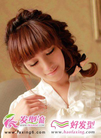 麻花辫韩式发型扎法