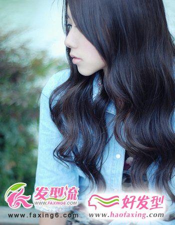唯美长卷发发型设计