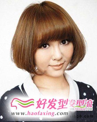 内扣发型设计波波头 时尚甜美又修颜