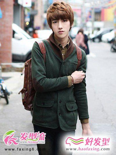 2012时尚帅气男生纹理烫发型