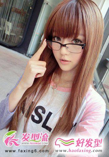 齐刘海直发发型设计