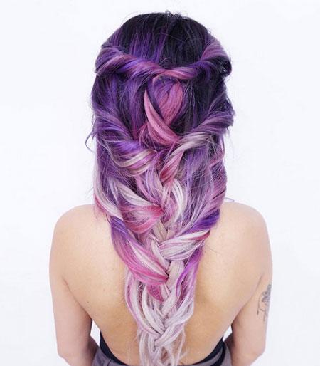 原宿彩色渐变染发 最全染发搭配方案 个性染发图片女生05