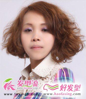 亮丽女生短发发型 红翻四月天