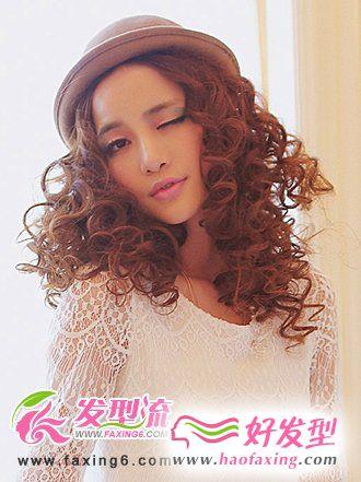 烫发发型图片  时尚潮流女生发型