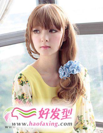 韩式发型扎法  秋季优雅气质韩式发型