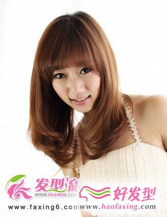 齐刘海梨花头发型