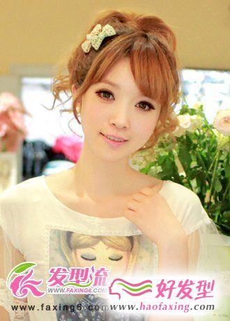 刘海发型图片-斜刘海发型