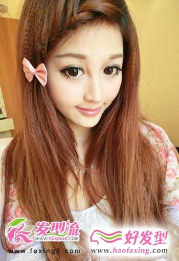清纯系女孩清新纯美直发发型