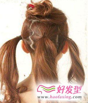 甜美日系盘发 自己做发型
