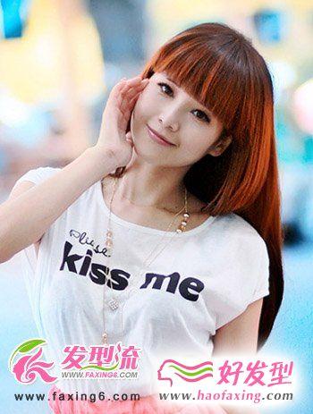 平刘海时尚女生发型