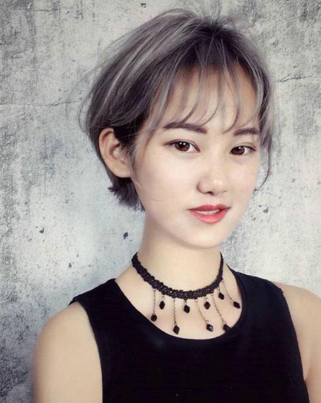 女生撇耳短发 流行女生发型 女生短发发型6