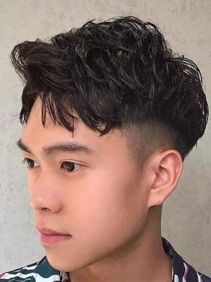 夏季男生发型清爽