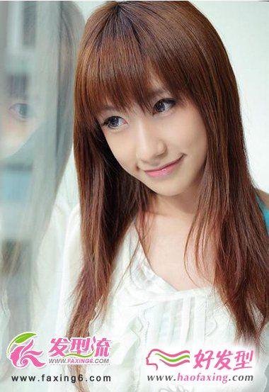 淑女最爱直发发型  清纯柔美