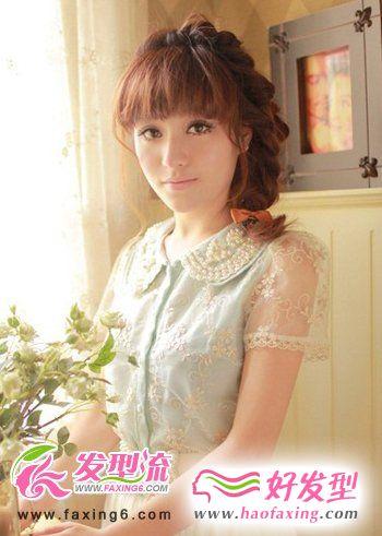 减龄萌系女孩的齐刘海发型