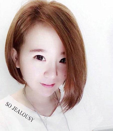 女生撇耳短发 流行女生发型 女生短发发型5