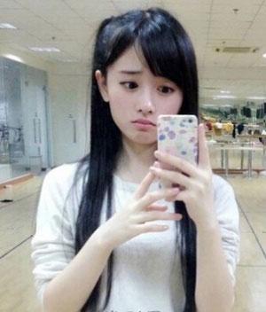 四千年美女 鞠婧祎发型图片 女生长发发型1