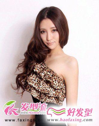 夏日清新唯美女生卷发发型设计