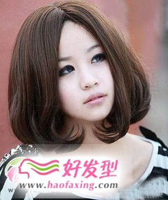 发型脸型搭配  圆脸适合的发型图片
