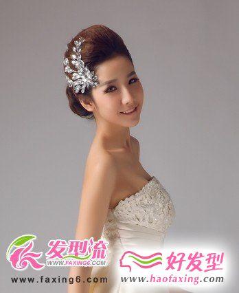 温婉可人新娘发型 2012流行趋势