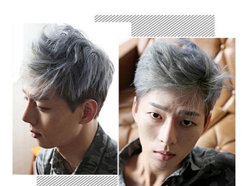 男生染发发色 男生发色推荐 银灰色男发3