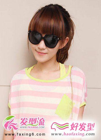 2012夏季流行的甜美齐刘海发型