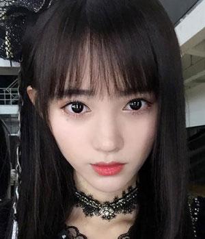 四千年美女 鞠婧祎发型图片 女生长发发型3