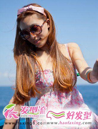 夏季飘逸女生长发 女人味十足