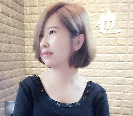 女生撇耳短发 流行女生发型 女生短发发型4