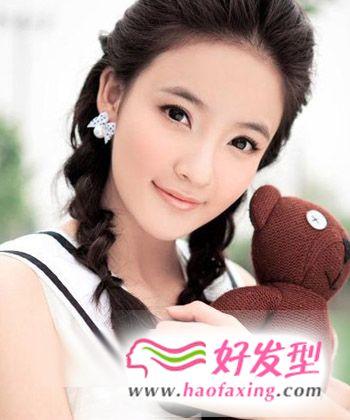 2013新年清新女生发型 淡雅纯美