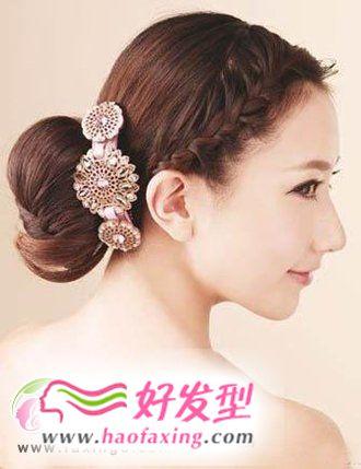 新娘发型  青春马尾辫新娘发型图片